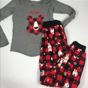 Other - Mama Bear Pajama Shirt and Pants Set Small